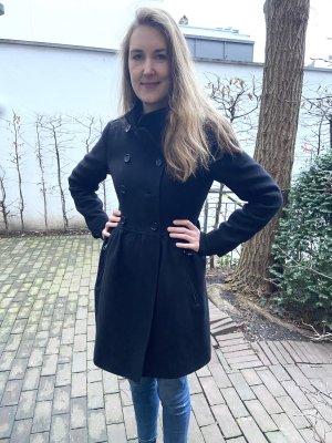 Wunderschöner Burberry Mantel Wolle schwarz Größe 40/42 fast wie neu