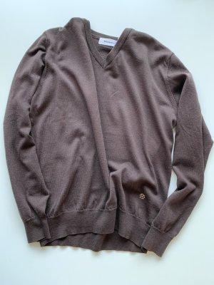 Burlington Pull en laine brun noir-bronze laine