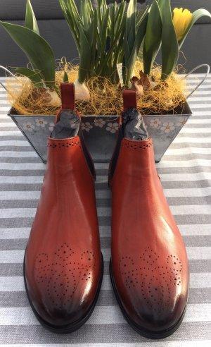 Melvin & hamilton Chelsea laarzen rood-donkerblauw