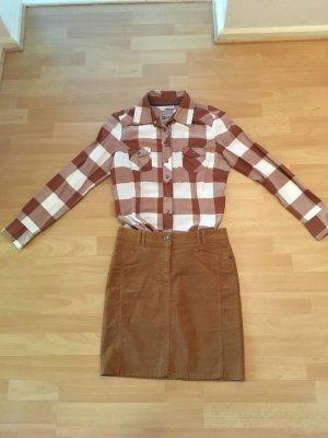 Peckott Miniskirt brown-cognac-coloured