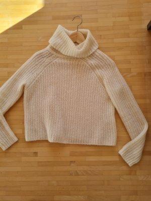 Wunderschöner Cropped Pullover mit Wolle von Hallhuber, Gr. XS