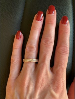 Gold Ring rose-gold-coloured real gold