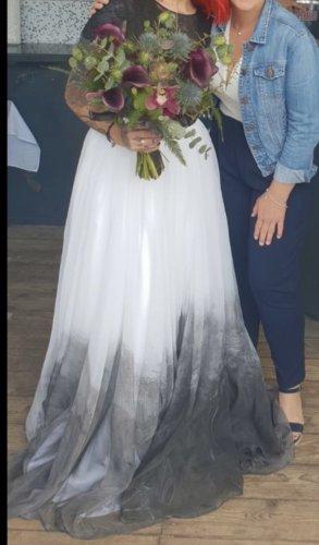 Sweet Caroline Wedding Dress white-black