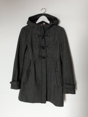 H&M Divided Trenca gris oscuro Lana
