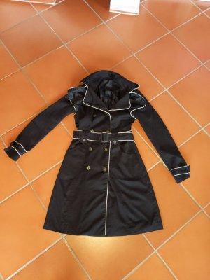 wunderschöner edler Trenchcoat Mantel von Vero Moda Größe XS 34 schwarz sehr elegant