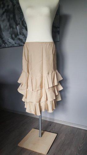 Apart Spódnica z falbanami kremowy