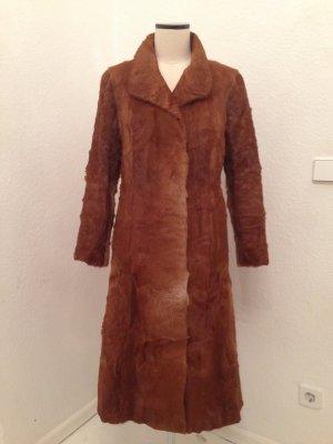 True Vintage Futrzany płaszcz Wielokolorowy Futro