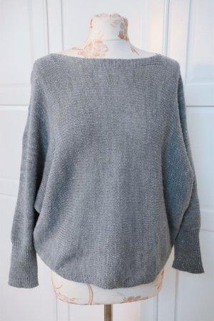 Pull kimono argenté-gris clair