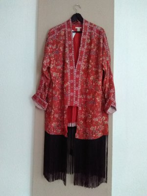 wunderschöner geblümter Long-Kimono aus 100% Viskose, Grösse M, neu