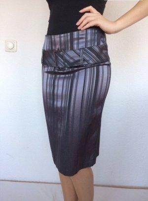 Morgan Falda midi violeta grisáceo