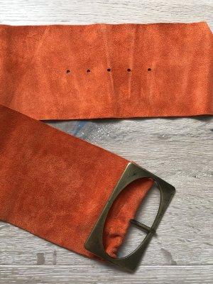 Ceinture de hanches orange cuir