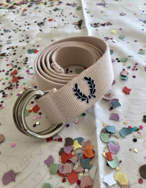 Fred Perry Fabric Belt pink