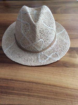 Chapeau de soleil crème-chameau