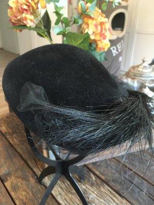 Wollen hoed zwart Wol