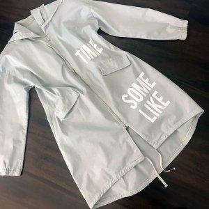 Hooded Coat light grey-white