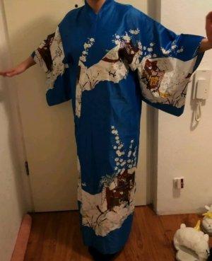 Kimono niebieski neonowy-chabrowy