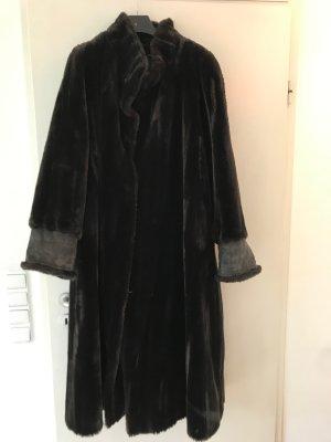 Couture Hélène Cappotto in eco pelliccia nero-antracite Acrilico
