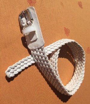 Cintura di pelle bianco Pelle