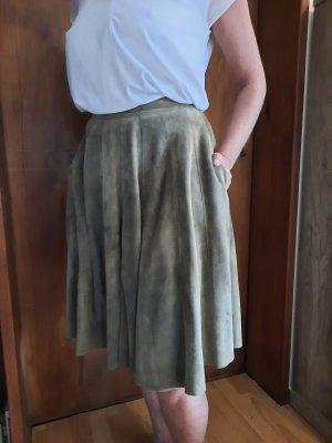 Meindl Couture Jupe en cuir beige