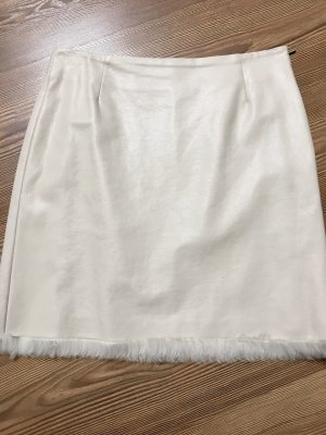 Marc Cain Leather Skirt natural white