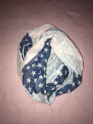 """wunderschöner Loop Schal im """"American Style"""" blau rosa Neu"""