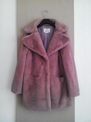 Sublevel Fake Fur Coat dusky pink polyester
