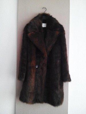 wunderschöner Mantel aus künstlichem Fell in braun, Grösse M