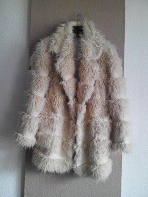 Glamorous Manteau en fausse fourrure crème acrylique