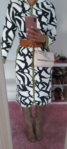 Manteau mi-saison blanc-vert