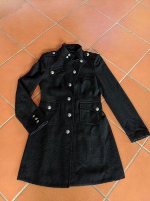 Mexx Abrigo de lana negro-color plata