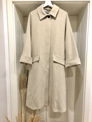 Zara Wool Coat beige-oatmeal
