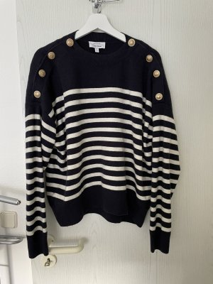 & other stories Fine Knit Jumper dark blue-natural white