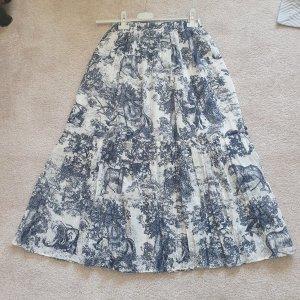 Jupe longue blanc-bleu