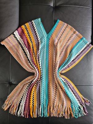 Missoni Poncho en tricot multicolore