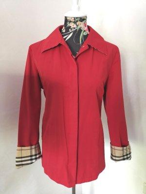 Burberry Klassischer Blazer rosso Tessuto misto
