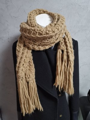 Dolce & Gabbana Knitted Scarf camel wool