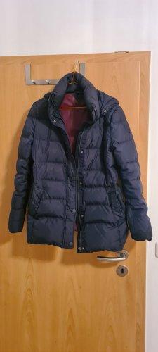 Wunderschöner Original Tommy Hilfiger Daunen Mantel/Jacke mit abnehmbarer Kapuze  Größe 36, Farbe: dunkelblau