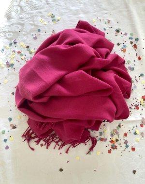 Pashmina Pashmina magenta-rosso lampone Tessuto misto