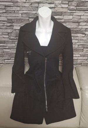 Wunderschöner Pennyblack 100% Wolle Wollmantel Mantel schwarz Gr 38 ital 44