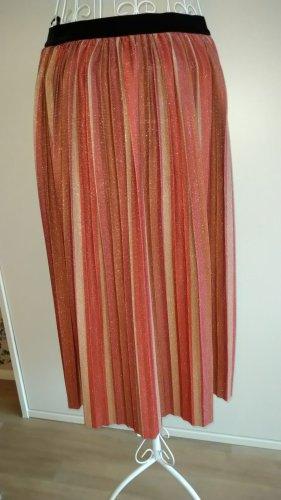 Only Plisowana spódnica brąz-złoto