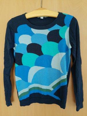 Boden London Cienki sweter z dzianiny ciemnoniebieski Bawełna