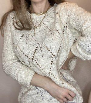 H&M Maglione lungo crema-bianco sporco