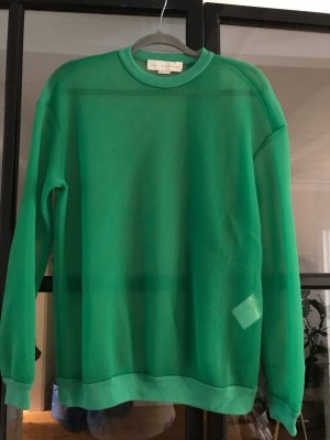 Stella McCartney Sweter z okrągłym dekoltem zielony