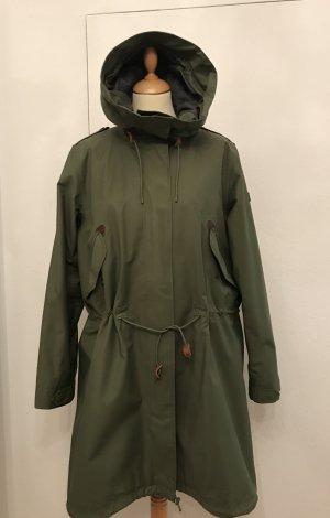 Aigle Heavy Raincoat olive green cotton
