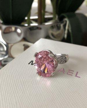 100 Zilveren ring zilver-roze
