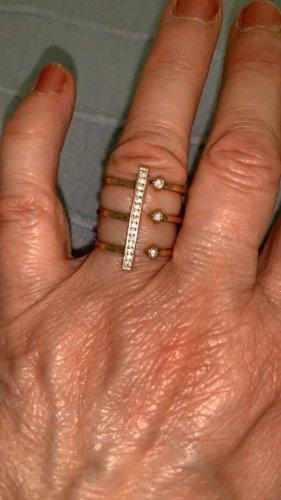 Wunderschöner Ring Silber Rosé vergoldet