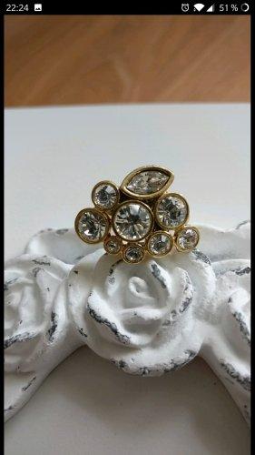 Wunderschöner Ring von Pilgrim, Strass, Gold, neuwertig