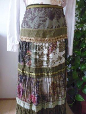 Basset Jupe mi-longue multicolore coton