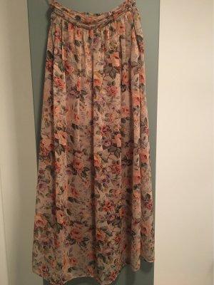 New Look Falda larga rosa-gris verdoso
