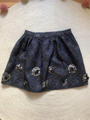 Zara Balloon Skirt dark blue